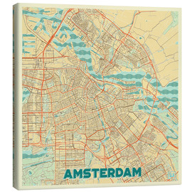 Hubert Roguski - Amsterdam Map Retro