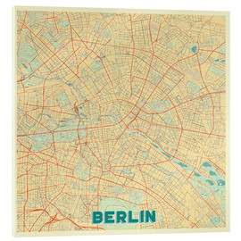 Cuadro de metacrilato  Berlin Map Retro - Hubert Roguski