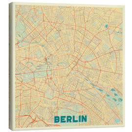 Lienzo  Berlin Map Retro - Hubert Roguski