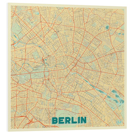 Cuadro de PVC  Berlin Map Retro - Hubert Roguski