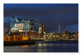 Póster  Hafencity with Elbphilharmonie - Sabine Wagner