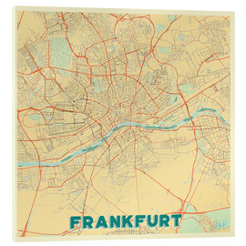Cuadro de metacrilato  Frankfurt Map Retro - Hubert Roguski