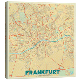 Lienzo  Frankfurt Map Retro - Hubert Roguski