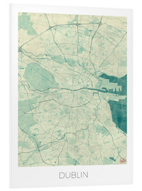 Hubert Roguski - Dublin Map Blue