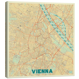 Lienzo  Vienna Map Retro - Hubert Roguski