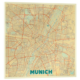 Cuadro de metacrilato  Munich Map Retro - Hubert Roguski