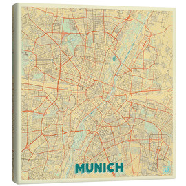 Lienzo  Munich Map Retro - Hubert Roguski