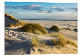 Cuadro de PVC  Landscape with dunes on the North Sea island Amrum - Rico Ködder