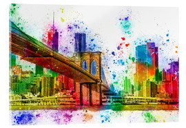 Cuadro de metacrilato  New York with Brooklyn Bridge - Peter Roder