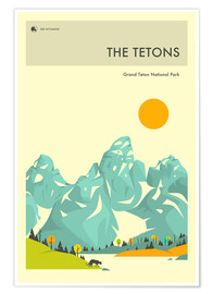 Póster GRAND TETON NATIONAL PARK POSTER