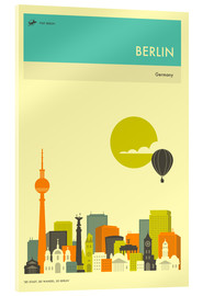 Cuadro de metacrilato  BERLIN TRAVEL POSTER - Jazzberry Blue