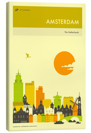 Lienzo  AMSTERDAM TRAVEL POSTER - Jazzberry Blue