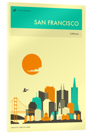 Cuadro de metacrilato  SAN FRANCISCO TRAVEL POSTER - Jazzberry Blue