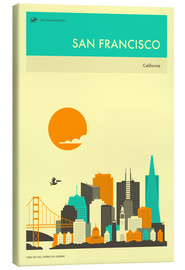 Lienzo  SAN FRANCISCO TRAVEL POSTER - Jazzberry Blue