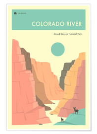 Póster  GRAND CANYON NATIONAL PARK POSTER - Jazzberry Blue