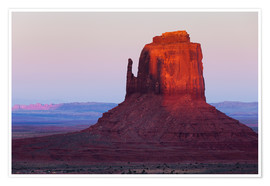 Póster  Monument Valley at sunset - Rainer Mirau