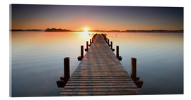 Cuadro de metacrilato  Footbridge at sunrise - Andreas Vitting