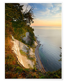 Póster  Chalk cliffs in the morning light - Andreas Vitting