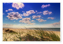 Póster  Blue sky with clouds on Texel - Beate Margraf