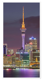 Póster Skyline of Auckland