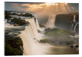Metacrilato  Iguazu falls waterfall at sunset. - Alex Saberi