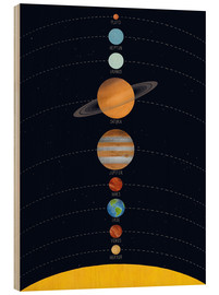 Madera  Solarsystem Poster - coico