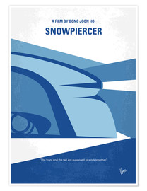Póster No767 My Snowpiercer minimal movie poster