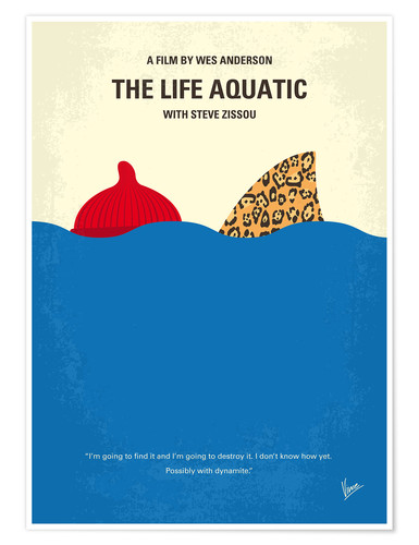 Póster The Life Aquatic with Steve Zissou