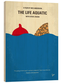 Cuadro de madera  The Life Aquatic with Steve Zissou - chungkong