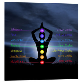 Chakras with silhouette