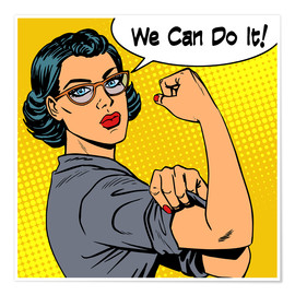 Póster  We can do it! popart