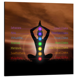 Aluminio-Dibond  Chakras before evening sky