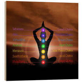 Madera  Chakras before evening sky