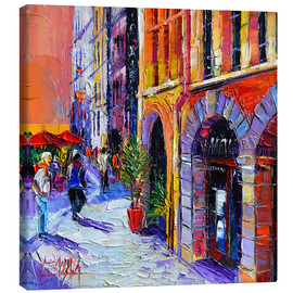 Lienzo  A walk in Old Lyon quarter - Mona Edulesco