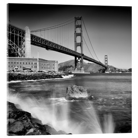 Cuadro de metacrilato  Golden Gate Bridge with breakers - Melanie Viola