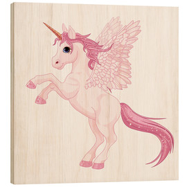 Cuadro de madera  Mi unicornio - Kidz Collection