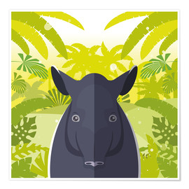 Póster Habitat of the Tapir