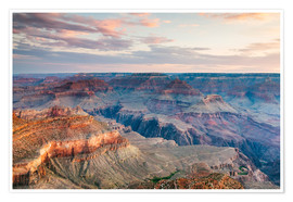 Póster  Sunset over the Grand Canyon south rim, USA - Matteo Colombo
