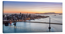 Lienzo  Aerial view of San Francisco at sunset, USA - Matteo Colombo