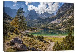 Lienzo  Idyllic mountain lake in the Tyrol mountains (Austria) - Christian Müringer