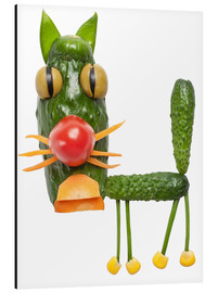 Cuadro de aluminio  Vegetable animals - cat
