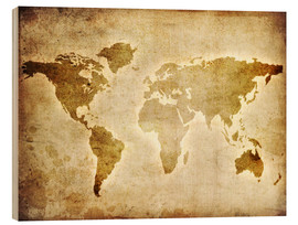Madera  Vintage World Map