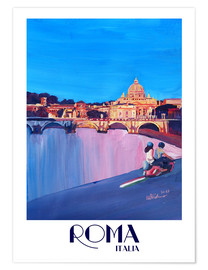 Póster  Retro Vespa in Rome to Vatican City - M. Bleichner