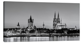 Lienzo  Magnificent Cologne black and white - Michael Valjak