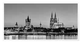 Póster  Magnificent Cologne black and white - Michael Valjak