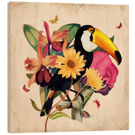 Cuadro de madera  Oh My Parrot XII - Mandy Reinmuth