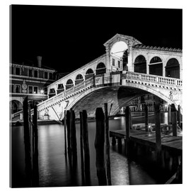 Cuadro de metacrilato  VENICE Rialto Bridge at Night - Melanie Viola