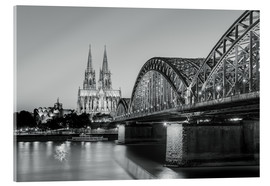 Metacrilato  Cologne at night in black and white - Michael Valjak
