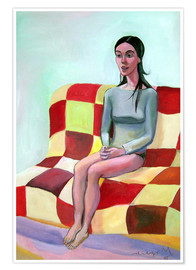 Póster  Woman on sofa III - Diego Manuel Rodriguez
