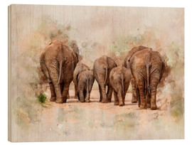 Madera  Elephants in the savannah in Africa - Peter Roder